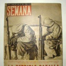Coleccionismo de Revistas y Periódicos: REVISTA SEMANA. AÑO 1943 Nº 162. Lote 45856170