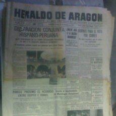 Coleccionismo de Revistas y Periódicos: HERALDO DE ARAGON. Lote 45942945
