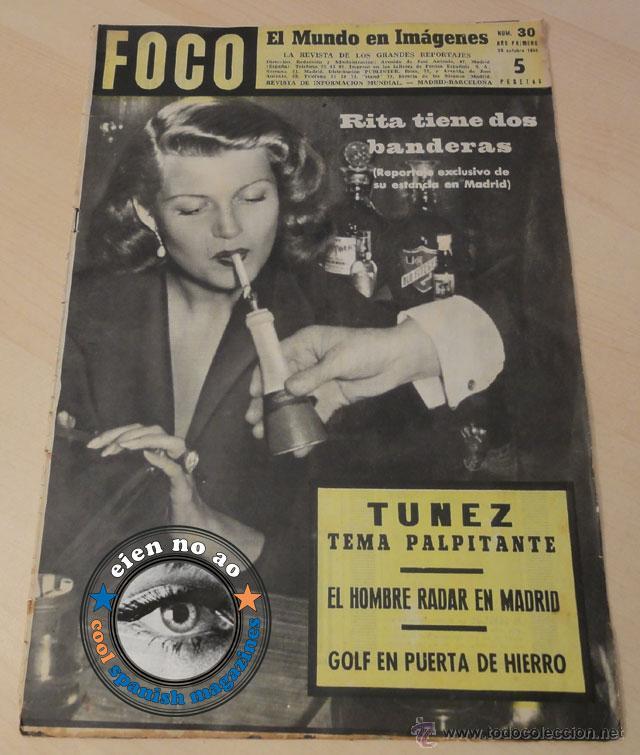 7c798fd1b13 FOCO   1951 ~RITA HAYWORTH en España ~ CHARLIE RIVEL ~ Golf en Puerta del  Hierro ~ Tunez ~