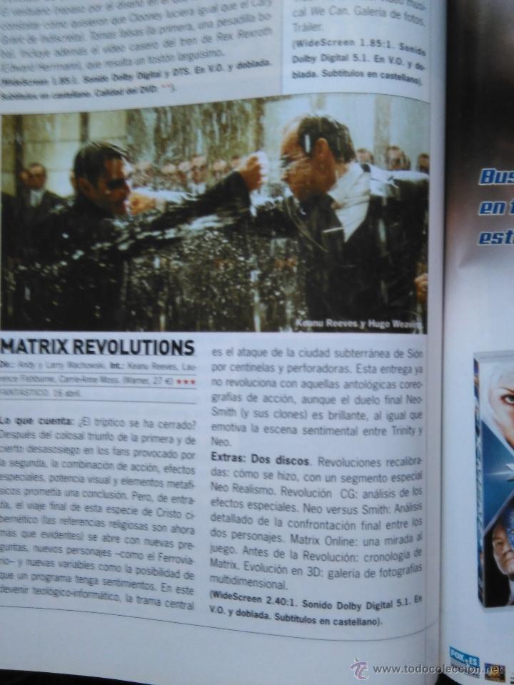 RECORTE KEANU REEVES MATRIX (Coleccionismo - Revistas y Periódicos Modernos (a partir de 1.940) - Otros)