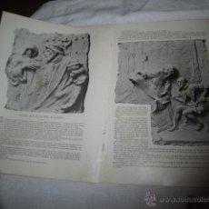 Coleccionismo de Revistas y Periódicos: LOS GRANDES LOCOS POR JOSE NOGALES .BAJO RELIEVES DE COULLAUT VALERHOJA REVISTA BLANCO Y NEGRO 1906 . Lote 46019883