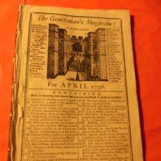 Coleccionismo de Revistas y Periódicos: ANTIGUA REVISTA THE GENTLEMAN'S MAGAZINE. APRIL 1756. (FG00029). Lote 46130150