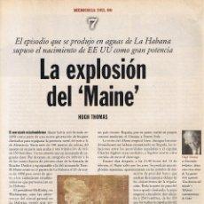 Coleccionismo de Revistas y Periódicos: MEMORIA DEL 98 - CUADERNO Nº 7 HUGH THOMAS - EL PAIS - LUIS CARANDELL LA ESTAFETA ROMANTICA. Lote 46183510