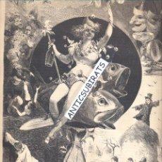 Coleccionismo de Revistas y Periódicos: REVISTA AÑO 1878 LA ACADEMIA ILUSTRACIONES DE APELES MESTRES . Lote 46193697