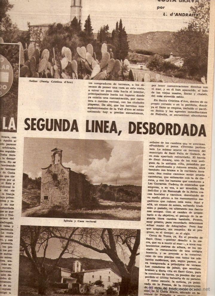 Coleccionismo de Revistas y Periódicos: AÑO 1962 ALGUER PROFESOR SCANU SOLIUS SANT AMANÇ THARRATS ARTE NARCIS OLLER JOAN MONES PASCUA FATJO - Foto 2 - 46305120
