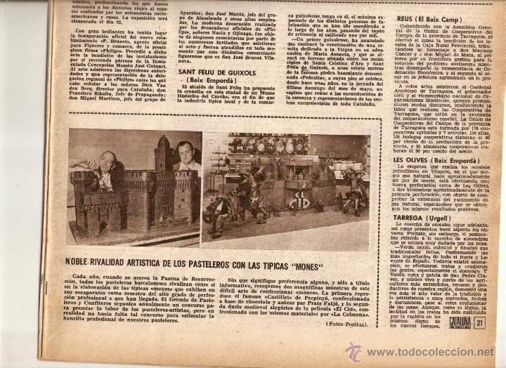 Coleccionismo de Revistas y Periódicos: AÑO 1962 ALGUER PROFESOR SCANU SOLIUS SANT AMANÇ THARRATS ARTE NARCIS OLLER JOAN MONES PASCUA FATJO - Foto 6 - 46305120