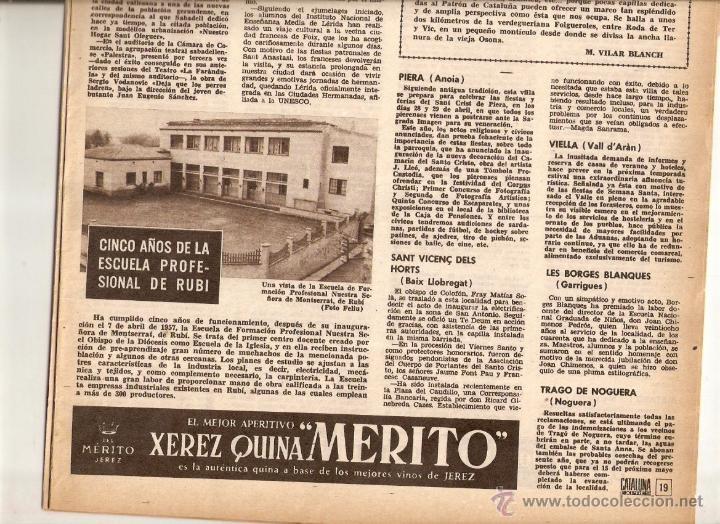 Coleccionismo de Revistas y Periódicos: AÑO 1962 MUSEU DEL VI VILAFRANCA RUBI ESCUELA PROFESIONAL FUTBOL JUVENIL SANT VICENÇ DELS HORTS - Foto 3 - 46305269