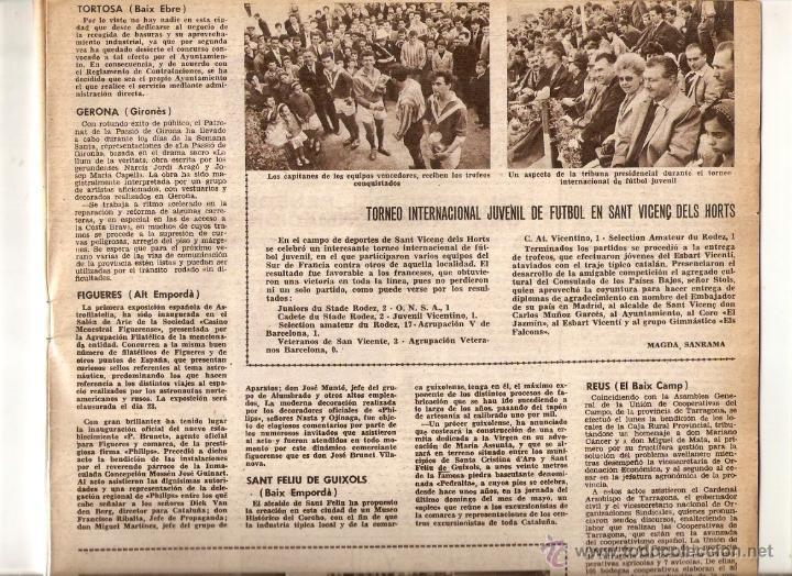 Coleccionismo de Revistas y Periódicos: AÑO 1962 MUSEU DEL VI VILAFRANCA RUBI ESCUELA PROFESIONAL FUTBOL JUVENIL SANT VICENÇ DELS HORTS - Foto 4 - 46305269