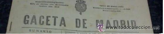 GACETA MADRID 25/10/1925 REUS, ARENYS DE MAR, CATADAU, TOLOSA, DAIMIEL (Coleccionismo - Revistas y Periódicos Antiguos (hasta 1.939))