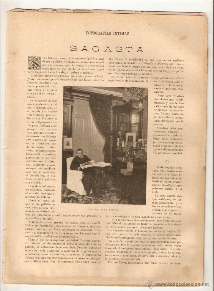 Coleccionismo de Revistas y Periódicos: 1897 ESCULTURA JOSE MONTSERRAT LAVANDERA SAGASTA ELOY GONZALEZ HEROE CASCORRO GUERRA CUBA CRUZ ROJA - Foto 3 - 46387715