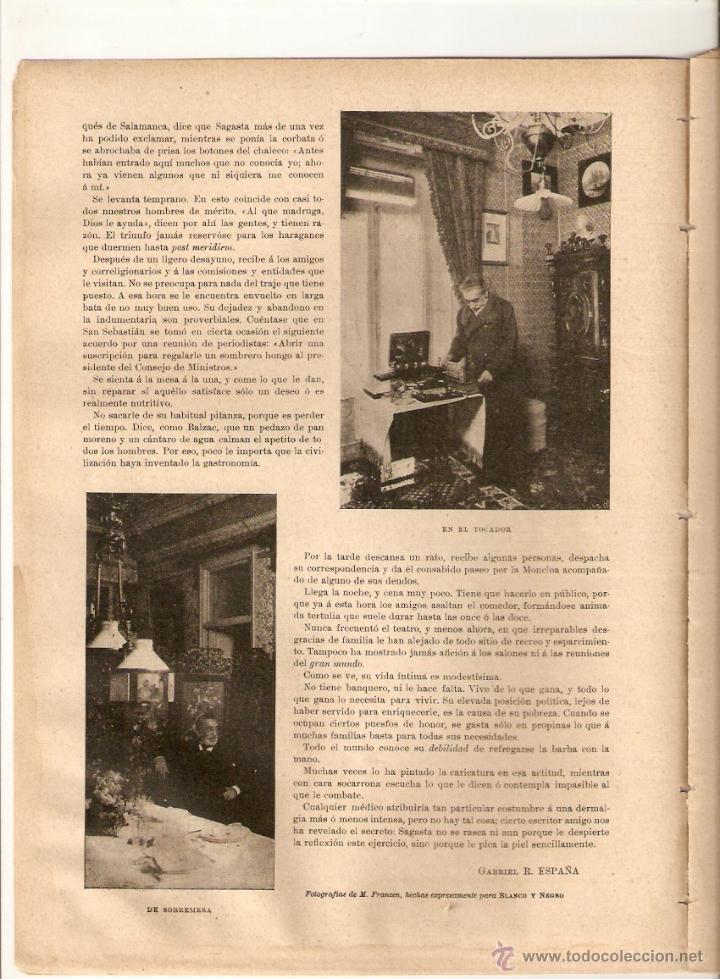 Coleccionismo de Revistas y Periódicos: 1897 ESCULTURA JOSE MONTSERRAT LAVANDERA SAGASTA ELOY GONZALEZ HEROE CASCORRO GUERRA CUBA CRUZ ROJA - Foto 4 - 46387715