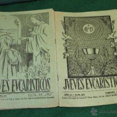 Coleccionismo de Revistas y Periódicos: LOTE 10 REVISTAS LOS JUEVES EUCARISTICOS 1963-1964 ZARAGOZA. Lote 46393020