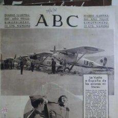 Coleccionismo de Revistas y Periódicos: ABC 27 DE JUNIO DE 1935, VUELTA A ESPAÑA.. Lote 46380412