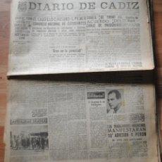 Coleccionismo de Revistas y Periódicos: DIARIO DE CÁDIZ, AÑO LXXXVII, 12 ABRIL 1953, CLAUSURA EL CAUDILLO EL PRIMER CONGRESO DE ESTUDIANTES. Lote 46446570