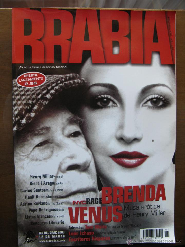 RRABIA. ¡ SI NO LA TIENES DEBERIAS TENERLA !. PRIMAVERA 2003. HENRY MILLER. BRENDA VENUS. (Coleccionismo - Revistas y Periódicos Modernos (a partir de 1.940) - Otros)