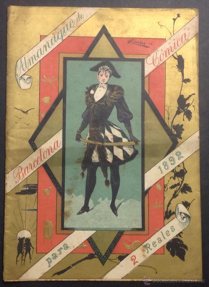ALMANAQUE DE BARCELONA CÓMICA PARA 1892. ILUSTRACIÓN DE PORTADA DE 'ESCALER'. (Coleccionismo - Revistas y Periódicos Antiguos (hasta 1.939))