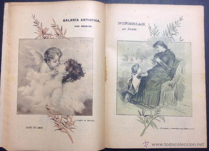 Coleccionismo de Revistas y Periódicos: ALMANAQUE DE BARCELONA CÓMICA PARA 1892. ILUSTRACIÓN DE PORTADA DE ESCALER. - Foto 5 - 46559295