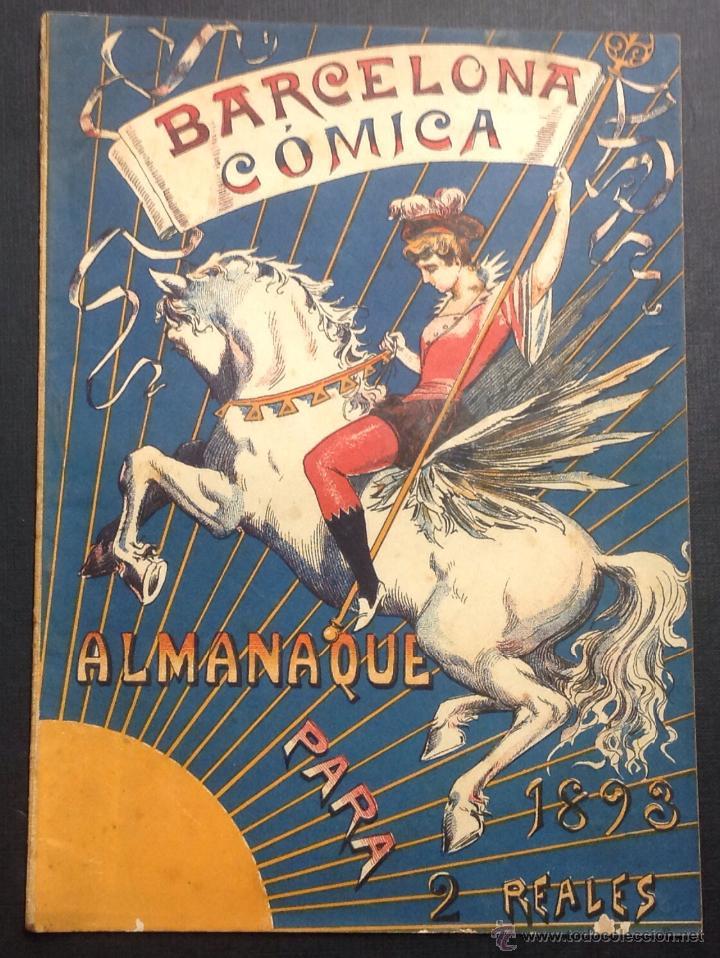ALMANAQUE DE BARCELONA CÓMICA PARA 1893. (Coleccionismo - Revistas y Periódicos Antiguos (hasta 1.939))