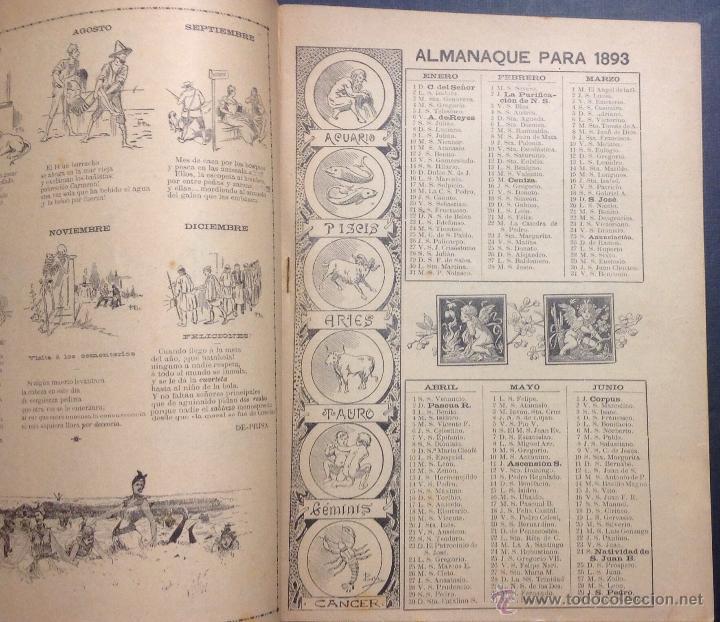 Coleccionismo de Revistas y Periódicos: ALMANAQUE DE BARCELONA CÓMICA PARA 1893. - Foto 3 - 46559383