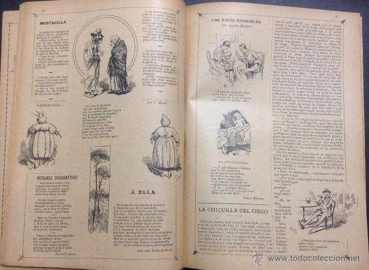 Coleccionismo de Revistas y Periódicos: ALMANAQUE DE BARCELONA CÓMICA PARA 1893. - Foto 6 - 46559383