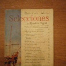 Coleccionismo de Revistas y Periódicos: REVISTA SELECCIONES - OCTUBRE 1957. Lote 46562578