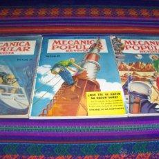 Coleccionismo de Revistas y Periódicos: MECÁNICA POPULAR REVISTA JULIO 1950, JUNIO 1951 Y DICIEMBRE 1952. MUY BUEN ESTADO.. Lote 46573504