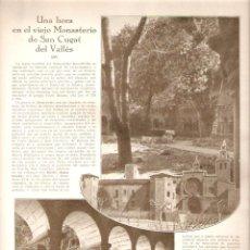 Coleccionismo de Revistas y Periódicos: AÑO 1930 COCHES DE PUNTO DE CABALLOS TRANSPORTE COCHERO MONASTERIO SANT CUGAT DEL VALLES MONESTIR. Lote 46583637