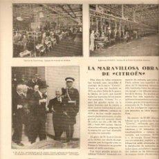 Coleccionismo de Revistas y Periódicos: AÑO 1929 MARQUES DE FORONDA VIGILANTES GUARDAS EXPOSICION BARCELONA FABRICA CITROEN IRUN SEVILLA . Lote 46597482