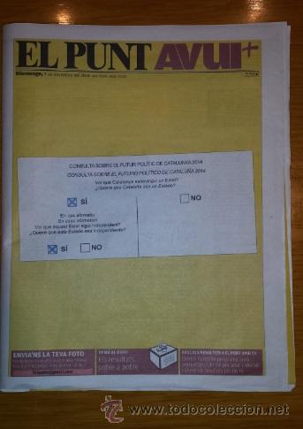 EL PUNT AVUI [9 DE NOVIEMBRE DE 2014][NÚMERO 13.368][CONSULTA CATALANA 9N] (Coleccionismo - Revistas y Periódicos Modernos (a partir de 1.940) - Otros)