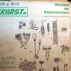 Coleccionismo de Revistas y Periódicos: REVISTA DE ESPELEOLOGIA GEO Y BIO KARST FLORA SUBTERRANEA 1970 . Lote 46727667