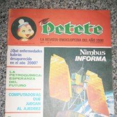 Coleccionismo de Revistas y Periódicos: PETETE Nº 8 - LA REVISTA-ENCICLOPEDIA DEL AÑO 2000 - ARGENTINA - GARCIA FERRE - 1977. Lote 46746067