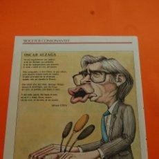 Collectionnisme de Revues et Journaux: CARICATURA - 1986 - OSCAR ALZAGA - ALFONSO USSIA Y PALACIOS BOCETOS CONSONANTES. Lote 46837895
