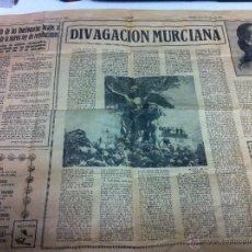 Coleccionismo de Revistas y Periódicos: PAGINAS DE PERIODICO LINEA - MURCIA - DIVAGACION MURCIANA - VIERNES 13 DE DICIEMBRE DE 1968 -. Lote 46927171