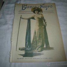 Coleccionismo de Revistas y Periódicos: ZINA BROZZIA SOPRANO DEL TEATRO REAL EN LA OPERA TOSCA HOJA REVISTA BLANCO Y NEGRO 1911 . Lote 46939130