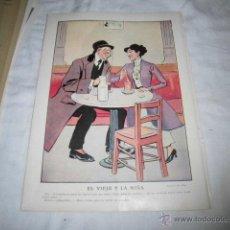 Coleccionismo de Revistas y Periódicos: EL VIEJO Y LA NIÑA DIBUJO DE MIRA HOJA REVISTA BLANCO Y NEGRO 1911 . Lote 46941665