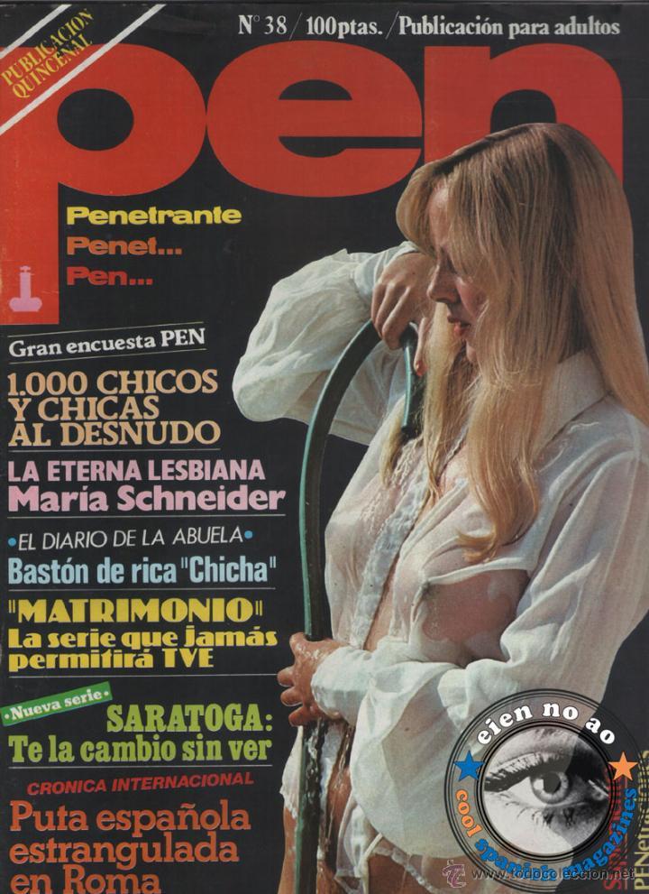 REVISTA PEN # 38 / 1980 ~ MARIA SCHNEIDER (Coleccionismo - Revistas y Periódicos Modernos (a partir de 1.940) - Otros)