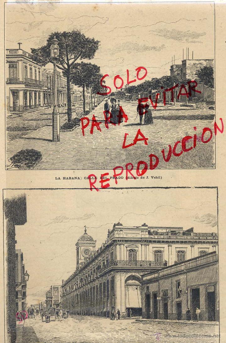Cuba 1890 la habana calle del prado y plaza del comprar for Okafu calle prado 10