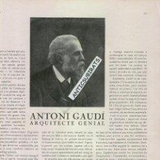 Coleccionismo de Revistas y Periódicos: ANY 1926 MORT DE ANTONI GAUDI SAGRADA FAMILIA CARLISME BATALLA DEL PASTERAL CABRERA AMETLLER MORELLA. Lote 47004135