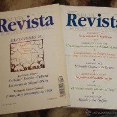 Coleccionismo de Revistas y Periódicos: DOS TOMOS DE LA NUEVA REVISTA POLITICA,CULTURA Y ARTE (AÑO 1993-1998). Lote 47005157