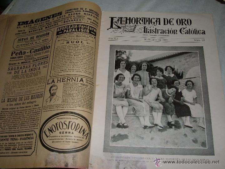 Coleccionismo de Revistas y Periódicos: REVISTA LA HORMIGA DE ORO ILUSTRACIÓN CATÓLICA Nº 28 BARCELONA 1924 - Foto 2 - 47095398
