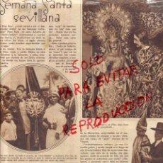 Coleccionismo de Revistas y Periódicos: SEVILLA 1931 SEMANA SANTA HOJA REVISTA. Lote 47106797