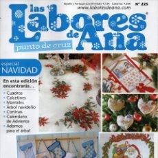 Coleccionismo de Revistas y Periódicos: LAS LABORES DE ANA PUNTO DE CRUZ N. 225 (NUEVA). Lote 179022453