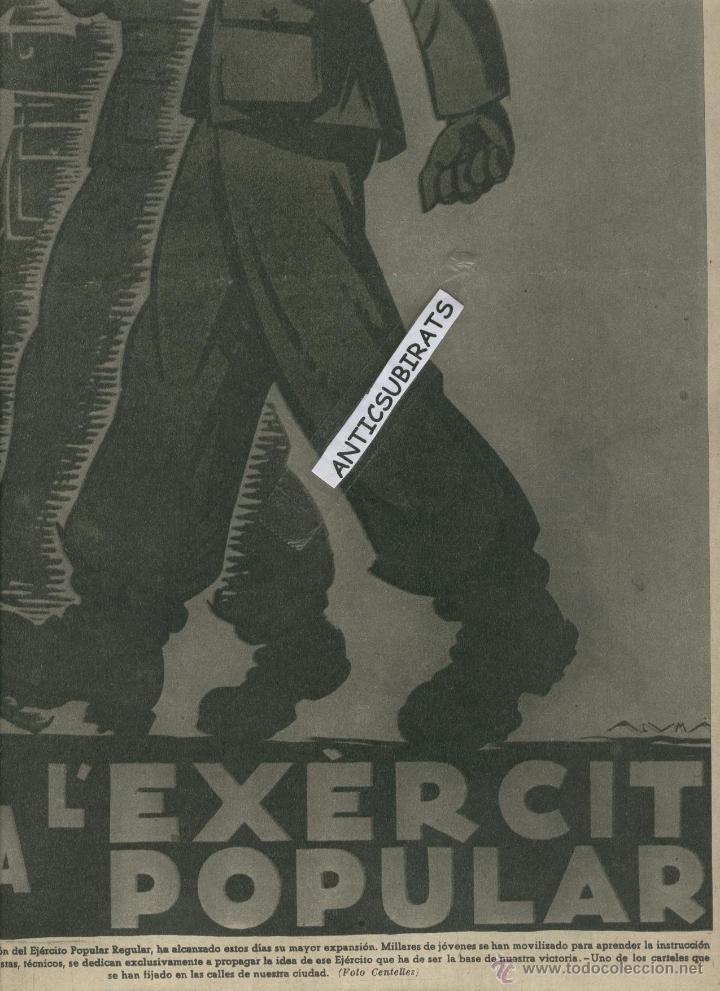 Coleccionismo de Revistas y Periódicos: 1937 CARTELES DE LA GUERRA CIVIL BOMBARDEO D VALENCIA DIBUJANTES NELO BAGARIA DURBAN BENIGANI MORENO - Foto 3 - 12416156