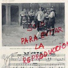 Coleccionismo de Revistas y Periódicos: LA JOTA 1898 BAILES TIPICOS 2 HOJAS REVISTA. Lote 47116026