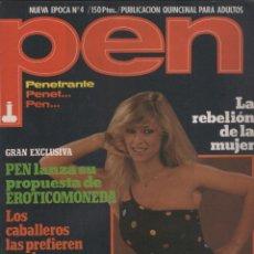 Coleccionismo de Revistas y Periódicos: REVISTA PEN # 4 / 1982 ~ SIAN ADEY JONES ~ DAVID HAMILTON. Lote 47123005