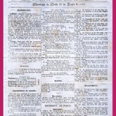 Coleccionismo de Revistas y Periódicos: 1868.- REVISTA QUINCENAL DEL MERCADO DE SANTIAGO DE CUBA. UNA HOJA. Lote 47148691