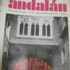 Coleccionismo de Revistas y Periódicos: ANDALAN. NUMERO 395 ZARAGOZA NUESTRA.PABLO LARRANETA. LUIS BALLABRIGA. ZARAGOZA HUESCA TERUEL.. Lote 47153032