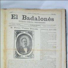 Coleccionismo de Revistas y Periódicos: COLECCIÓN DEL PERIÓDICO EL BADALONÉS. 2 TOMOS - AÑO II Y III - 1895 Y 1896 - BADALONA. Lote 47159089