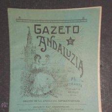 Coleccionismo de Revistas y Periódicos: ESPERANTO - REVISTA - GAZETO ANDALUZIA - NUM· 10 OCTUBRE 1910 - (V-1716). Lote 47174138