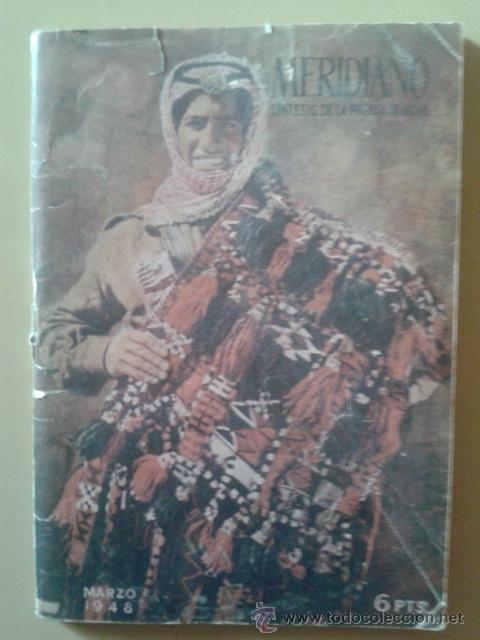 REVISTA MERIDIANO MARZO 1948 (Coleccionismo - Revistas y Periódicos Modernos (a partir de 1.940) - Otros)